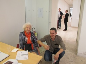 Felix with Luisa at the opening of 'Possible Encounters'