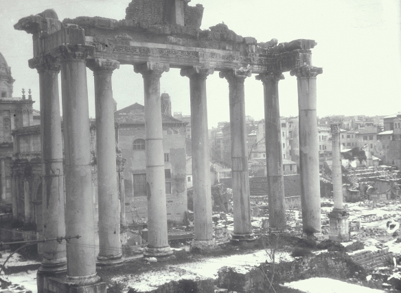 Ashby, Temple of Saturn, Roman Forum, 1901
