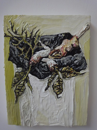 "A Franks, ""Baroque Bin"", 2013, oil on board, 39 x 29 cm"