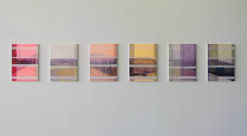 "D Genadry ""Afterimage (Towards Riyaq)"", 2012, acrylic and oil paint on wood panel, 45 x 60 cm (each)"
