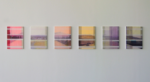 "D Genadry ""Afterimage (Towards Riyaq)"", 2012, acrylic and oil paint on wood panel, 45 x 60 cm (each)"