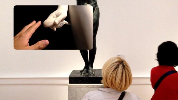 "J Arens ""Marte e Venere – A Hand Held Monument"", 2013,  digital video, 10'"
