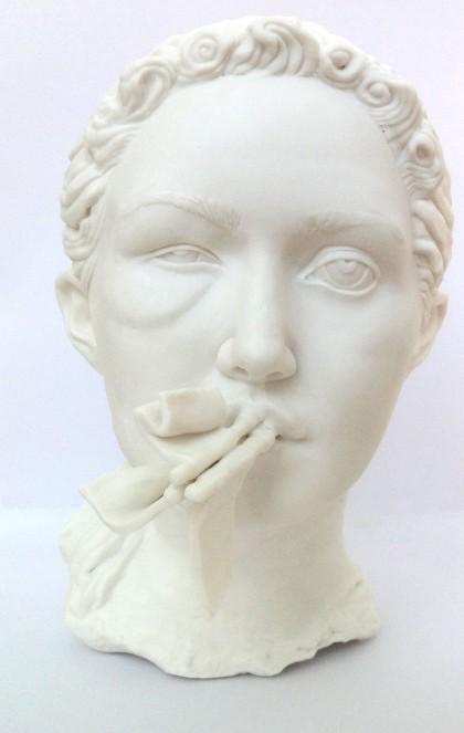 "U Burke, ""Bruiser"", 2014, Parian Porcelain"