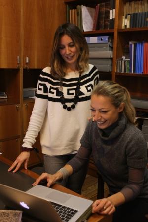 Archivist Alessandra Giovenco with EAGLE Consultant Francesca Bigi