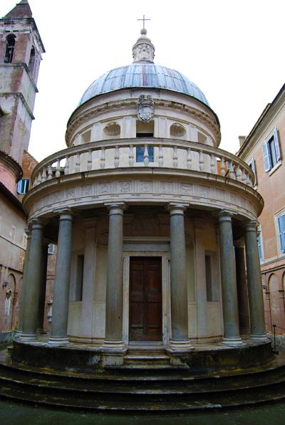 Il tempietto di San Pietro in Montorio (the so-called Tempietto del Bramante)