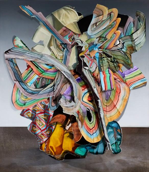 Gregory Hodge, Procession, 2014. Acrylic on canvas, 228.6cm x 198cm.