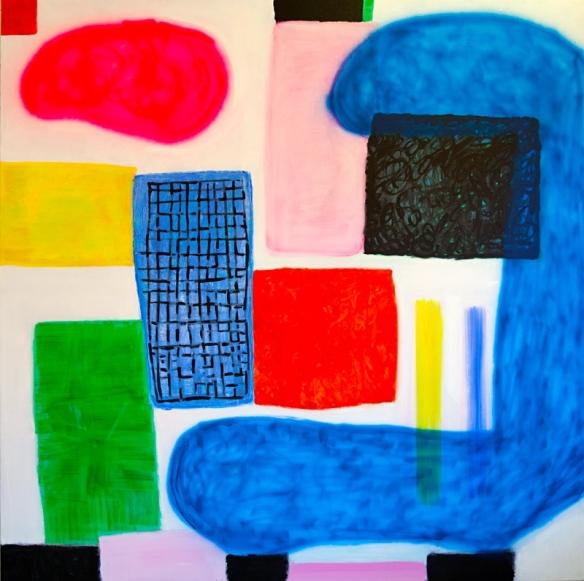 Angela Brennan, Classics, 2014. Oil on linen, 180 x 180 cm.