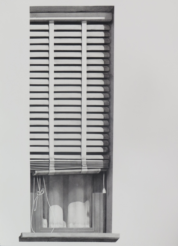 Garbatella,  2015. Charcoal on paper,  76.5 x 56 cm