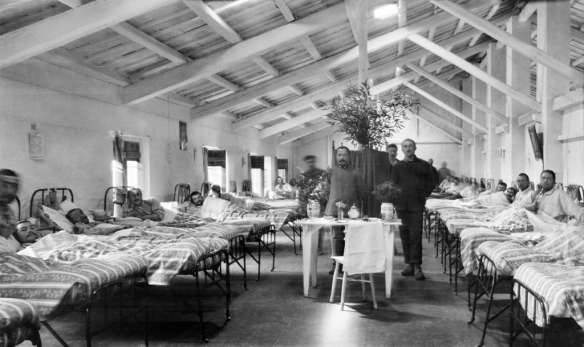Inside the hospital at Villa Trento, 1915 - 1918