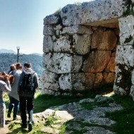 Site visit to Segni, where the BSR has been conducting a research project for the past three years. Photo: Thea Lawrence.