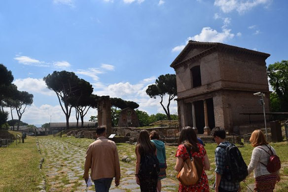 City of Rome students at Ostia Antica. Photo: Ali Hightower.