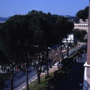 Architecture School riots, photo taken from the BSR roof (1968)