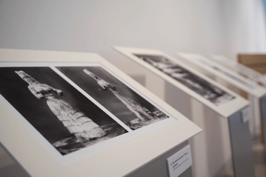 Exhibition of photographs and documents from the John Marshall Collection. Photo by Antonio Palmieri.
