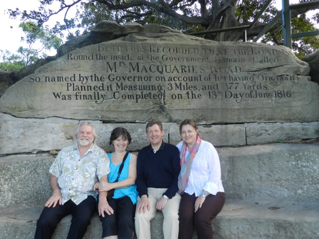Tom Hillard, Lea Beness, Christopher and Susan celebrate Macquarie