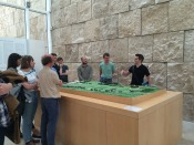 Mark Bradley explains the layout of the surrounding land from where the Ara Pacis originally stood