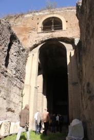 Award-holders entering the Mausoleum