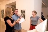 Christine Martin speaks to two of the artists