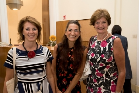 Left to right: Alessandra Varisco, Daniela Bruno and Dame Fiona Reynolds