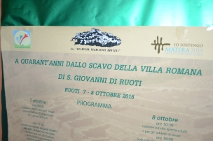 40 years on from the excavations of the Roman villa at San Giovanni di Ruoti.