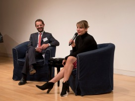 Jill Morris discusses the EU Referendum. Photo credit: Antonio Palmieri