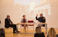 L to R: Gianfranco Vallana (Trinità dei Monti), Caroline Julian (ResPublica), and Pippo Ciorra (MAXXI)
