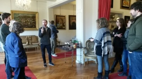 Visual Art Residency and Programme Curator Marco Palmieri in his element at the De Chirico Foundation