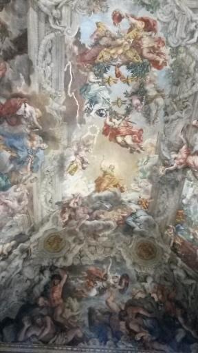 Pietro da Cortona's Allegory of Divine Providence in the Palazzo Barberini. Photo by Ellie Johnson.