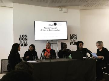 Sinta participates in the discussion 'Women's work? Artists in conversation' at the London Art Fair.