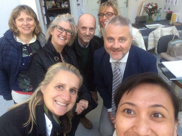 The Palio posse visiting Sinta's studio