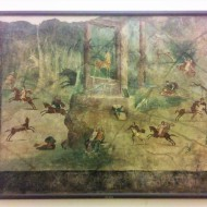 Pompeian fresco at the Museo Archeologico Nazionale di Napoli. Photo by Ellie Johnson.