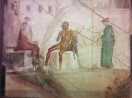 Pompeian fresco at the Museo Archeologico Nazionale di Napoli. Photo by Ellie Johnson.