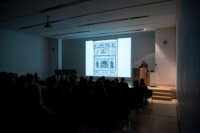 John Osborne lecturing. Photo by Antonio Palmieri.