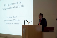 Christer Bruun lecturing. Photo by Antonio Palmieri.