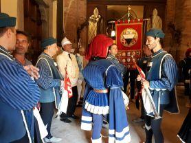 Preparing for the corteo storico in the Comune