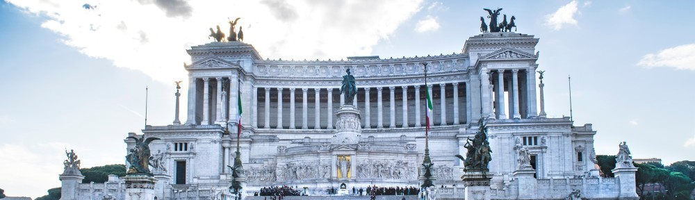 Figure 2: The commemoration ceremony began on the Vittoriano steps