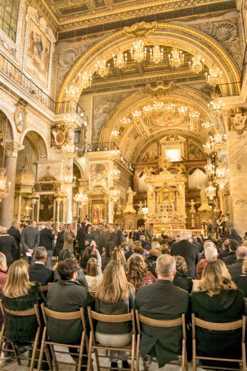 Figure 4: Inside the Aracoeli Basilica during the service