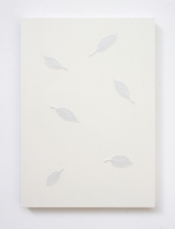 Pasquale, 42 x 29.7cm, leaves, paper, panel