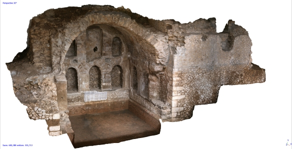 Segni nymphaeum photogrammetry post excavation