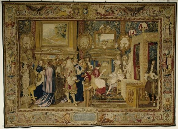 Cardinal Chigi apologising to Louis XIV