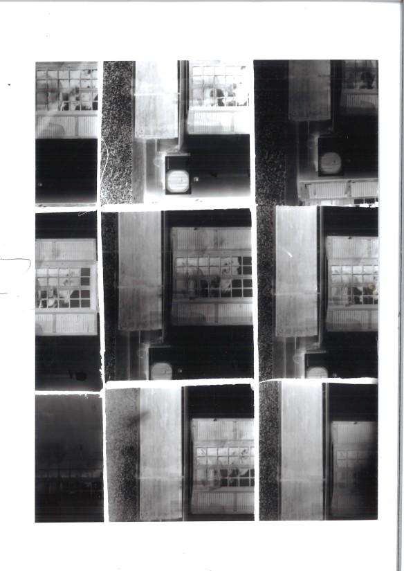 Fig. 4 David Whiting using Anna Brass' nine hole pinhole camera