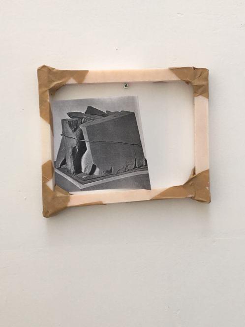 Untitled, 2020, marble, tape, b&w photo.jpg